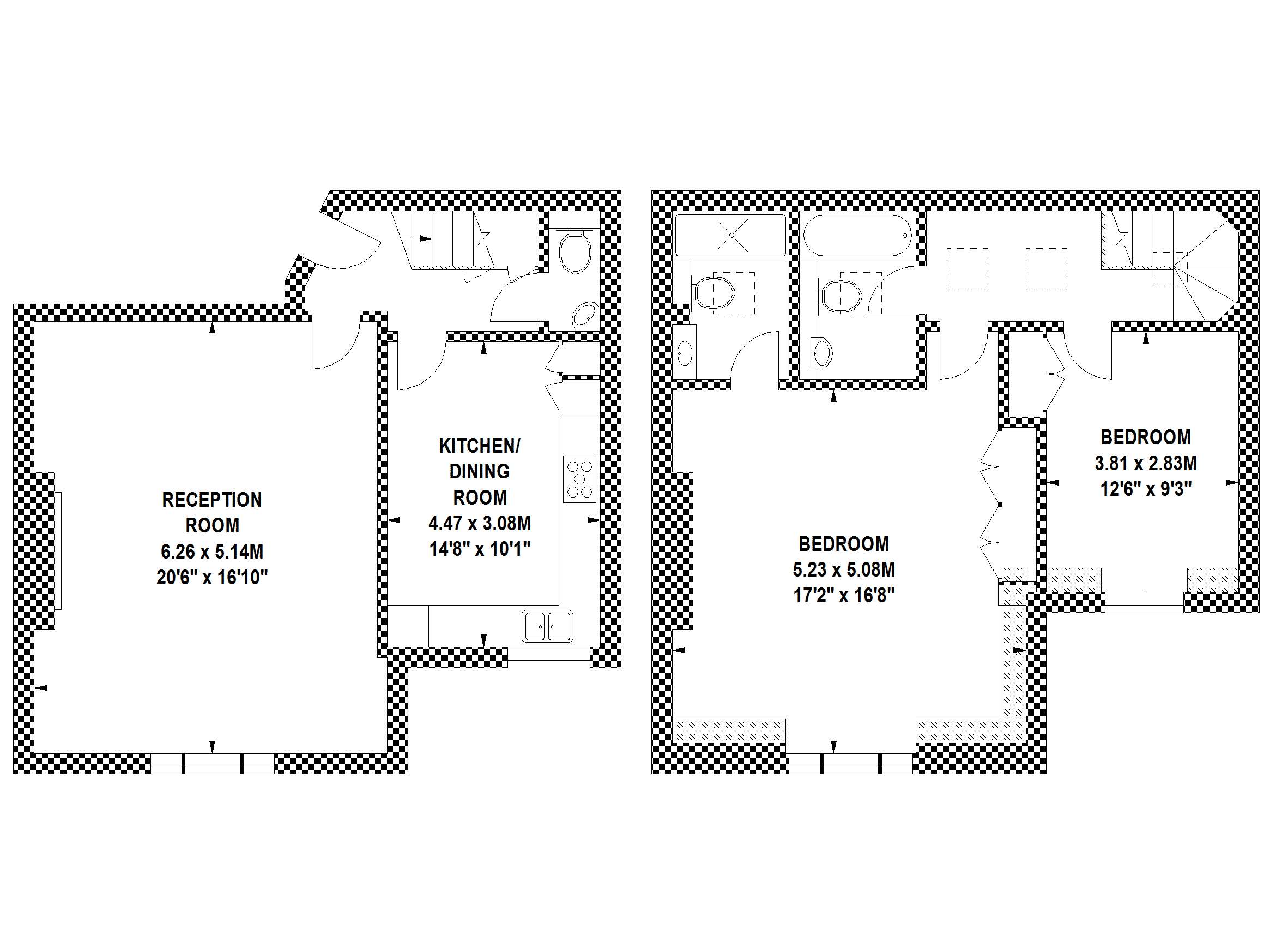 Floor Plans by Harpr Surveyors - This is an example of our shaded walls floor plans