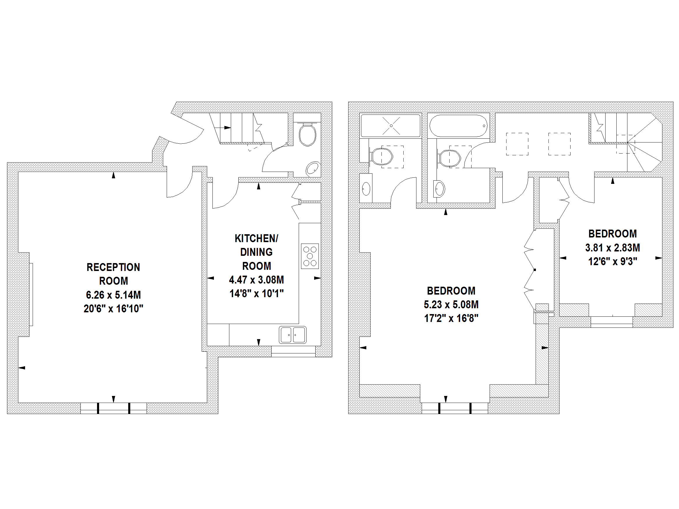 Floor Plans by Harpr Surveyors - This is an example of our wall shaded floor plans