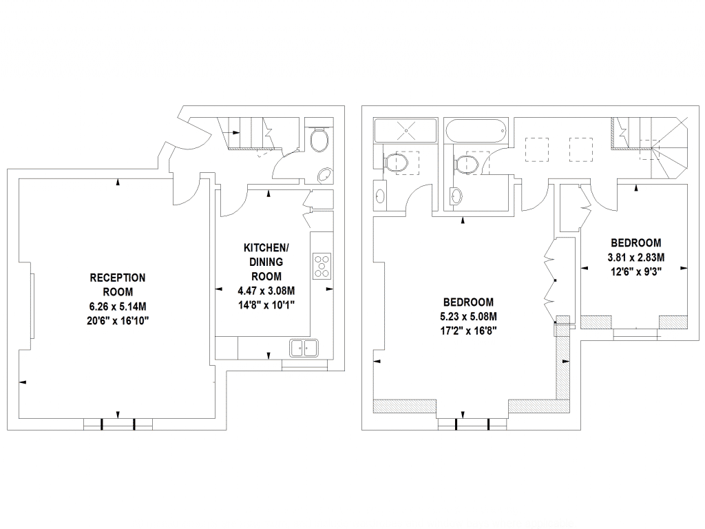Hollow Wall Floor Plans by Harpr Surveyors