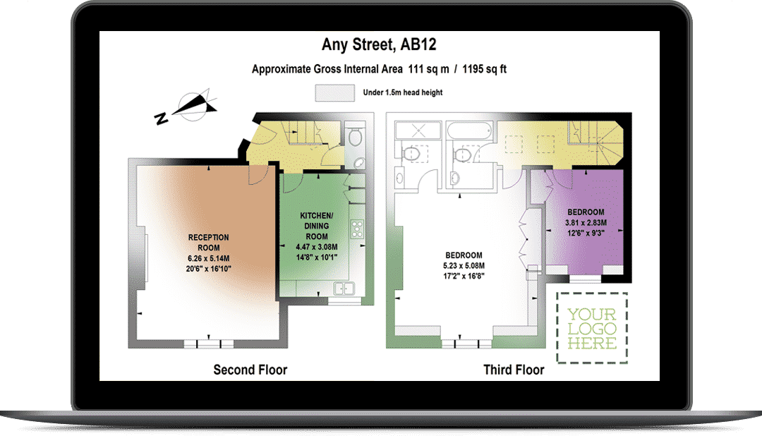 Floor Plans by Harpr Surveyors - This is an amalgam of our styled floor plans