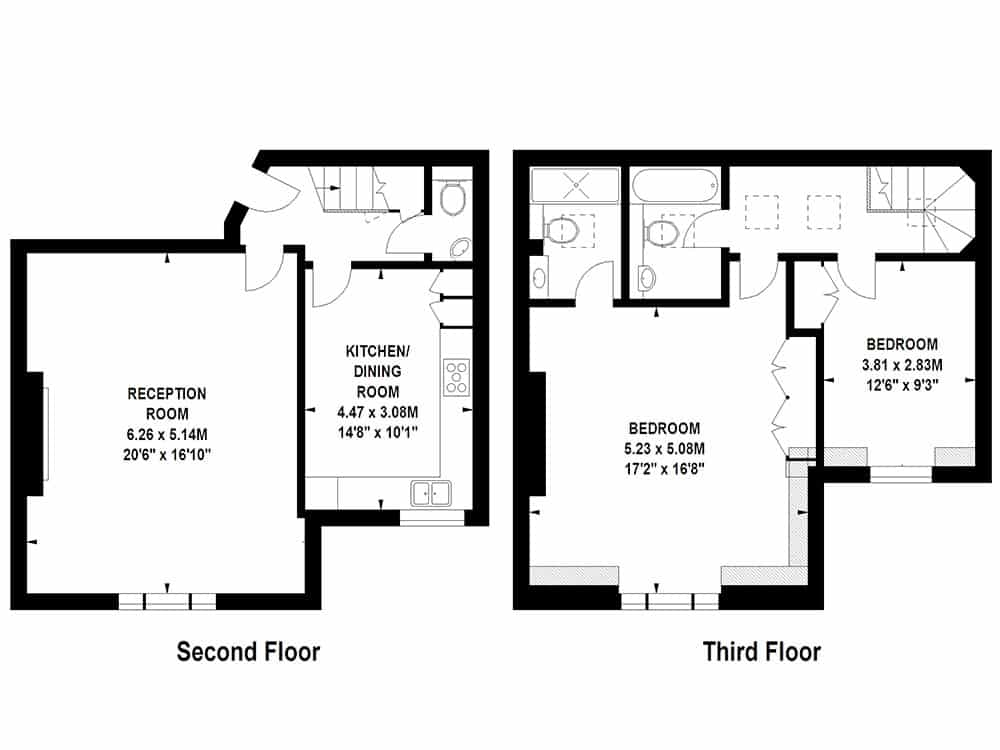 Floor Plans by Harpr Surveyors - This is an example of our standard formatted floor plans