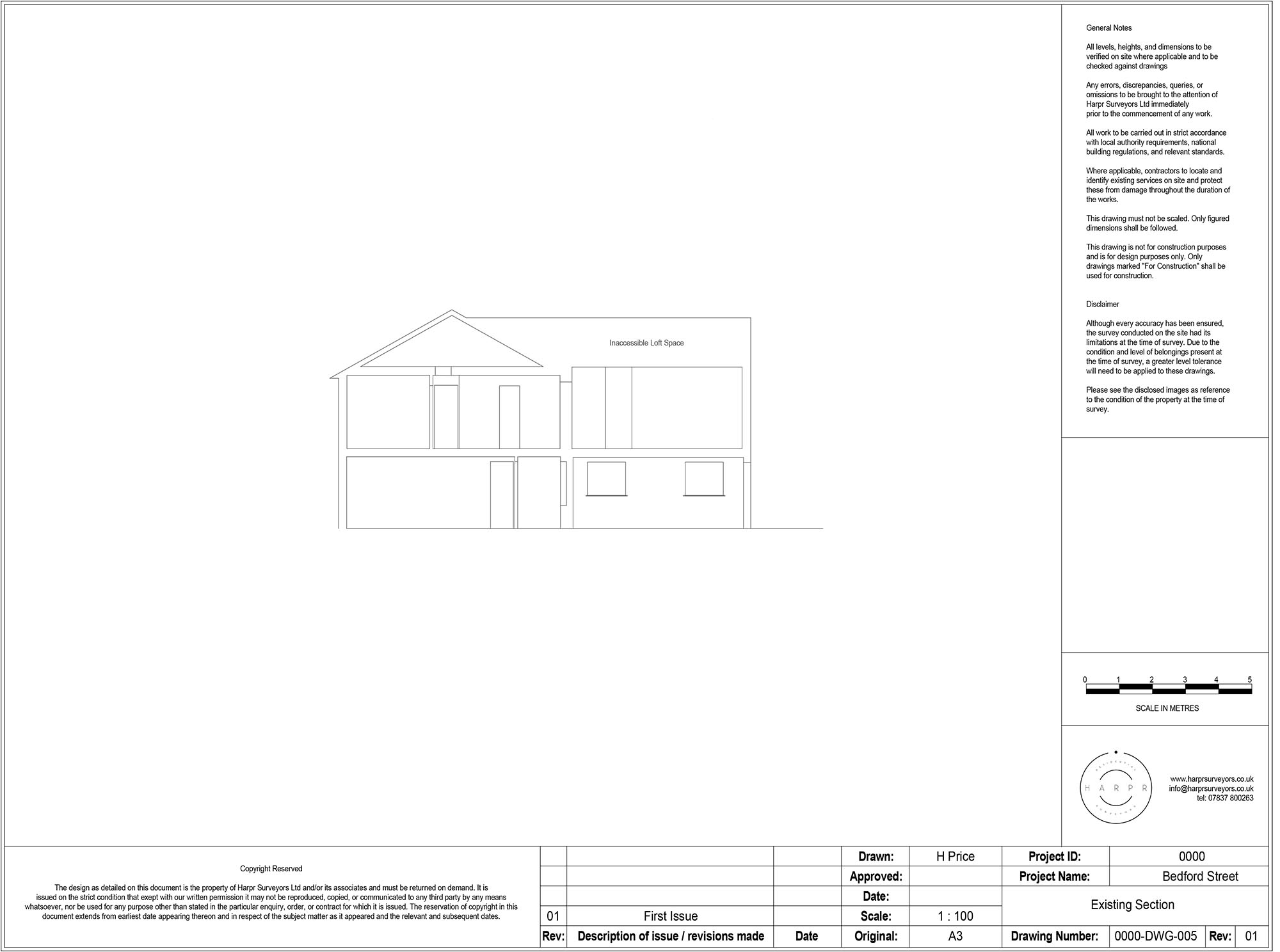 Bedford Street Hitchin Section Drawing