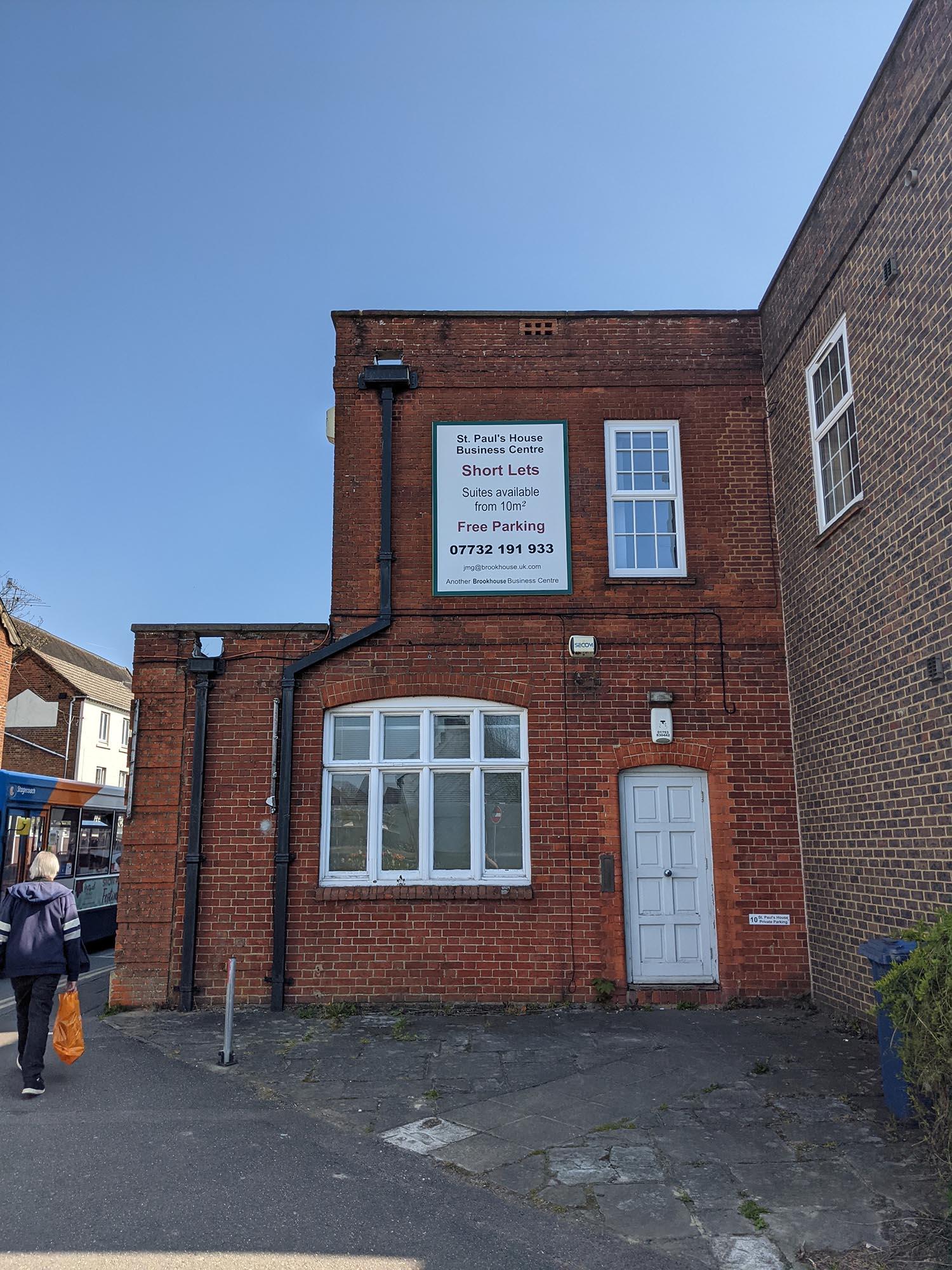 St Pauls House, Farnham Side Elevation