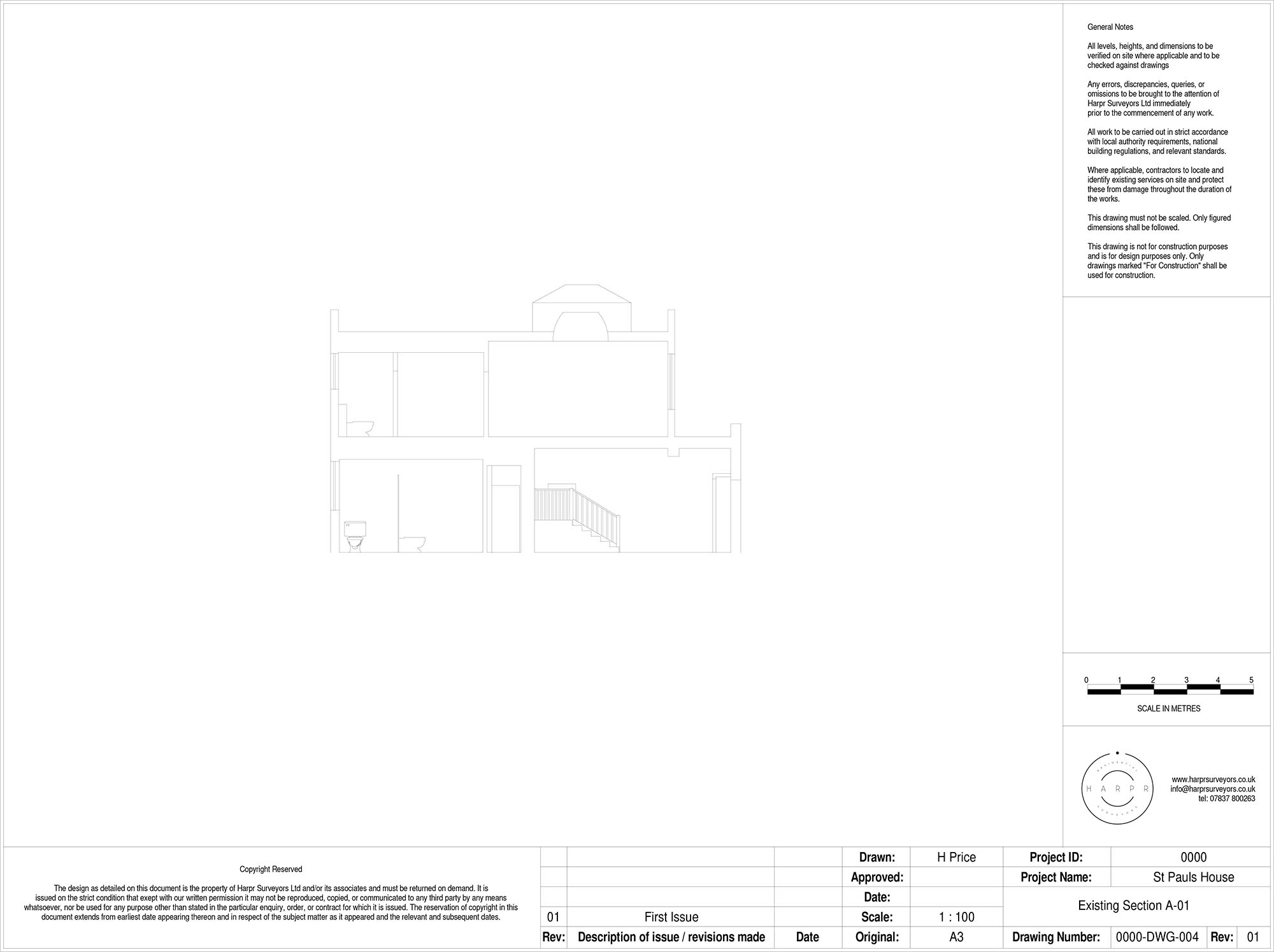 St Pauls House Section Drawing