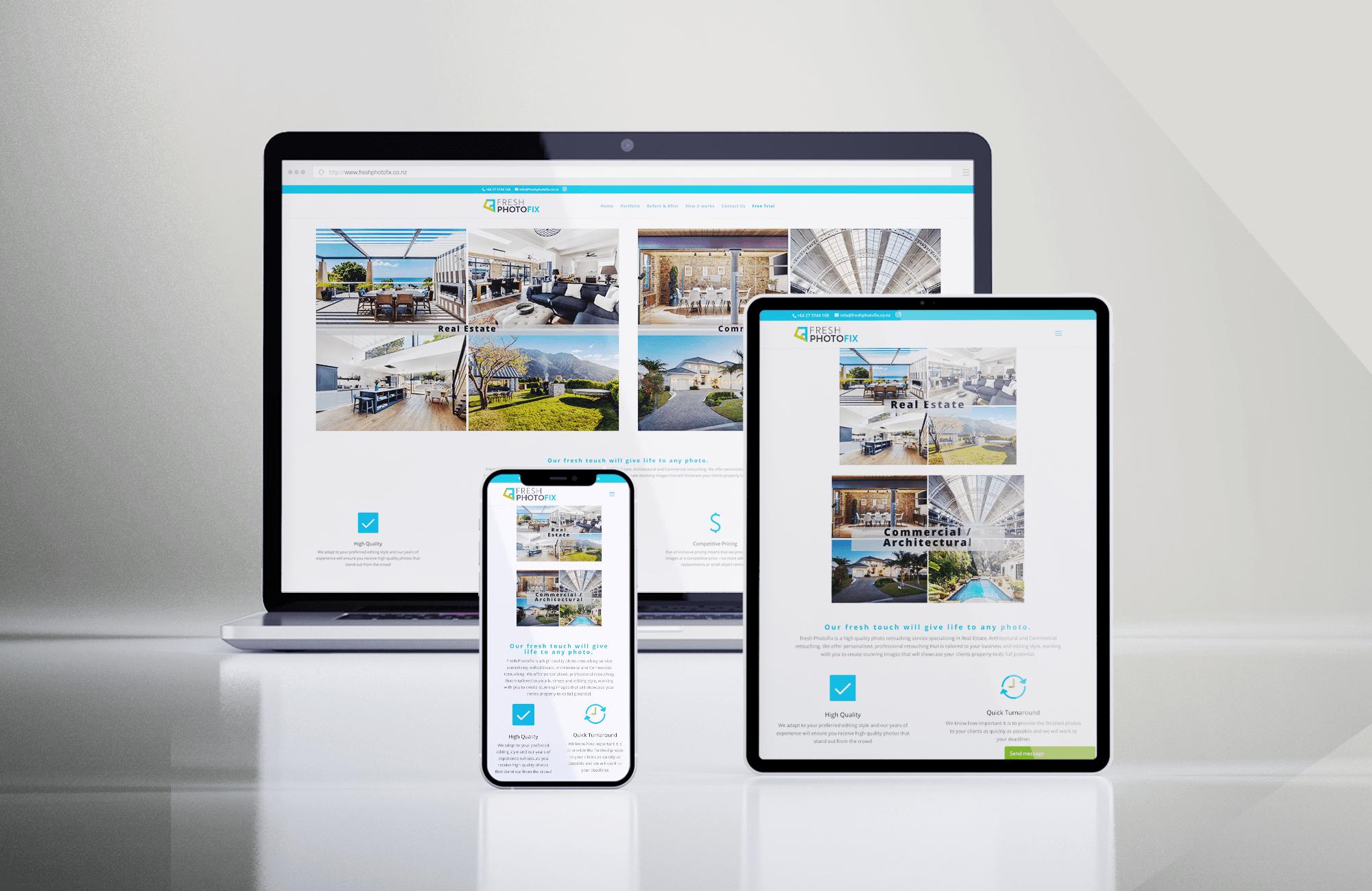 Fresh PhotoFix website designed by Harpr Surveyors
