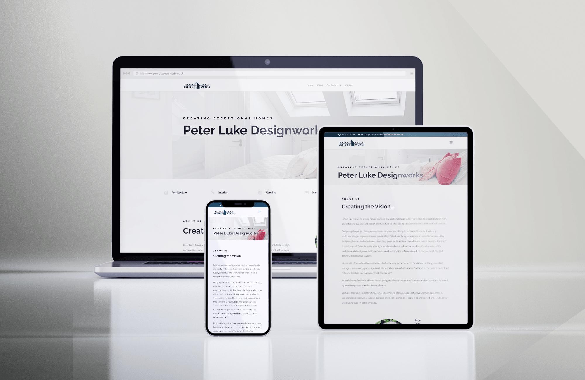 Peter Luke Designworks website by Harpr Surveyors